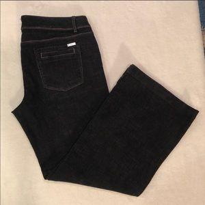 WHBM Trouser Leg Noir Jeans Size 14S VGUC